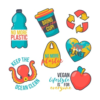 Colorful ecology badges