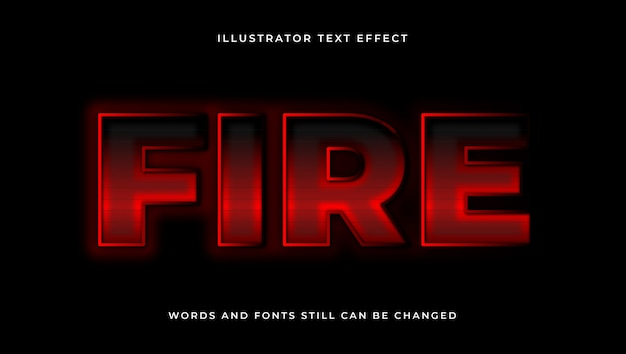 Colorful editable modern text with fire effect