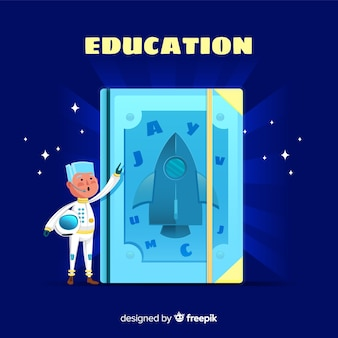 Colorful education concept with flat design