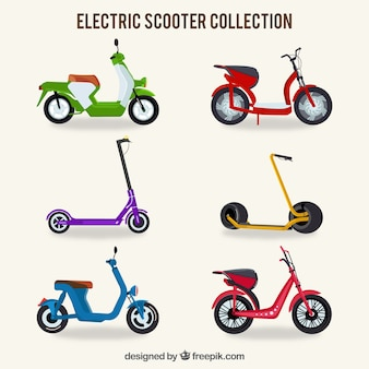 Colorful electric scooter collection