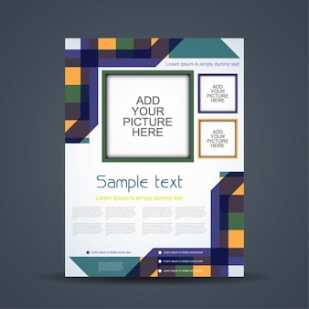 Colorful elegant business brochure
