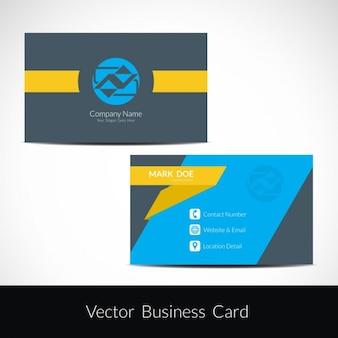 Colorful elegant business card