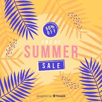 Colorful end of summer sales background