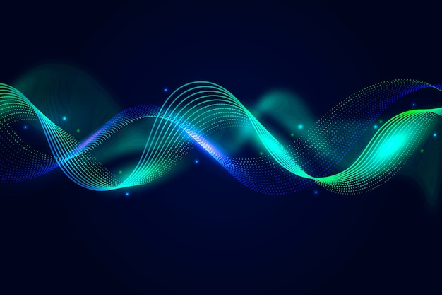 Colorful equalizer wave background theme