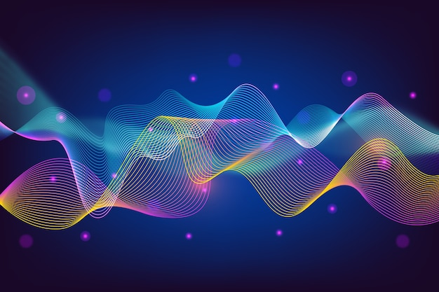Colorful equalizer wave background