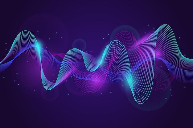 Colorful equalizer wave background