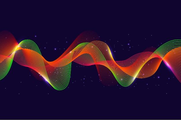 Красочный эквалайзер волны фон