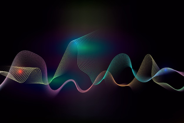 Colorful equalizer wave wallpaper