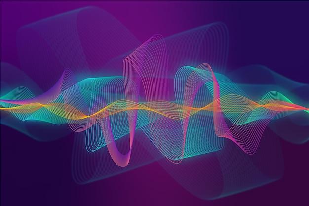 Colorful equalizer wave wallpaper