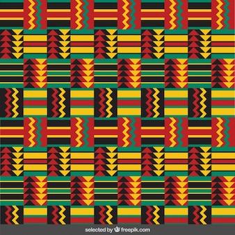 화살촉으로 다채로운 민족 패턴