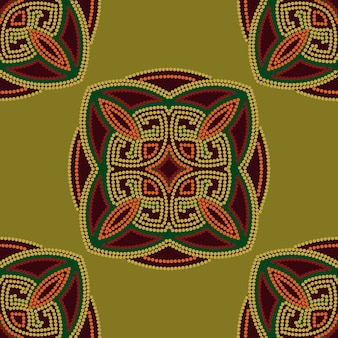 Colorful ethnic seamless pattern background