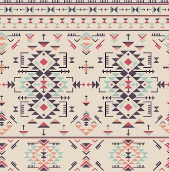 Красочный этнический бесшовный образец с геометрическими фигурами