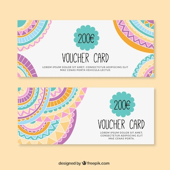 Colorful euro voucher pack