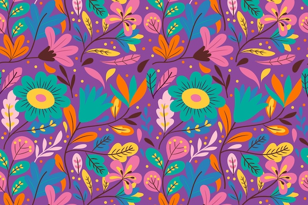 Colorful exotic floral background