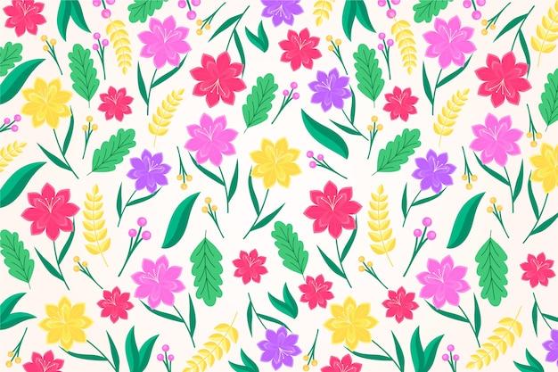 화려한 이국적인 꽃 배경