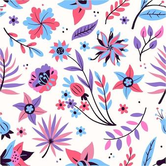 Motivo floreale esotico colorato