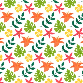 Colorful exotic floral pattern
