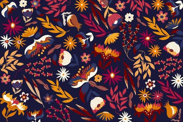 Colorful exotic floral screensaver