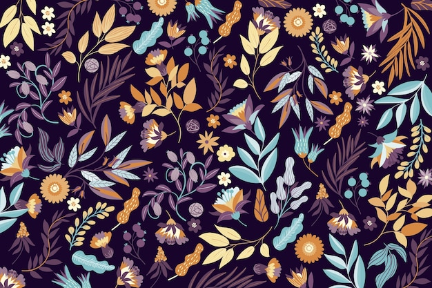 Colorful exotic flowers wallpaper