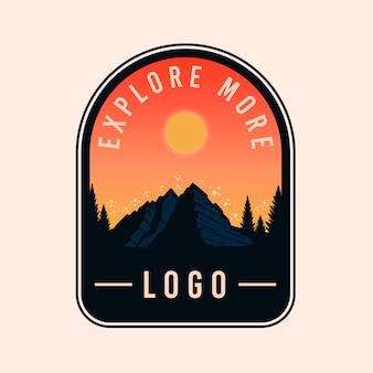Colorful explore adventure badge logo