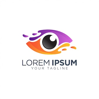 Colorful eye logo template