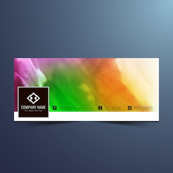 Colorful facebook watercolor cover