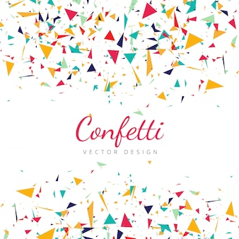 Colorful falling confetti background vector