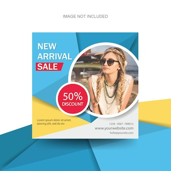 Colorful fashion banners flyer leaflet brochure template