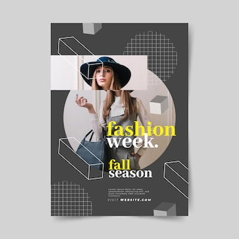 Colorful fashion poster template concept