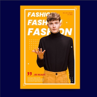 Colorful fashion poster with photo