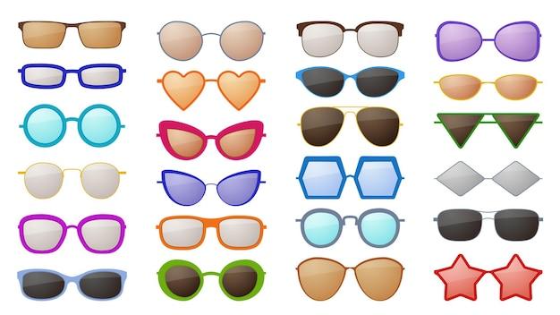 다양한 스타일의 다채로운 패션 보호 안경 액세서리