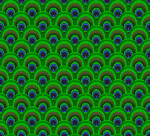 Colorful feather of peacock background pattern seamless