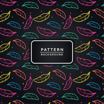 Colorful feathers pattern background