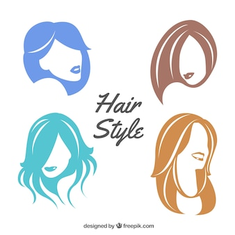 Colorful female hair style