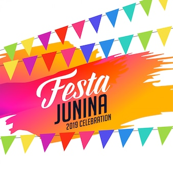 Colorful festa junina celebration
