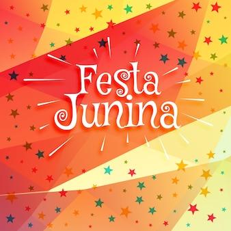 Colorful festa junina design with stars