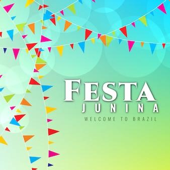 Colorful festa junina design