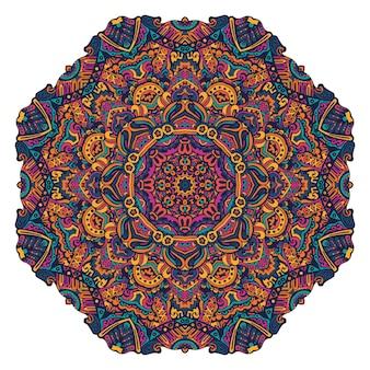 Colorful festival round ethnic mandala