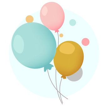 Colorful festive balloons design vectors