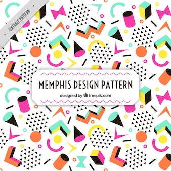 Colorful figures memphis pattern