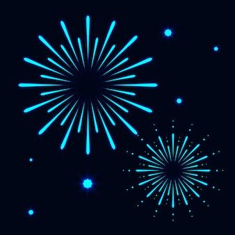 Красочный фейерверк абстрактный фон с новым годом празднование концепции