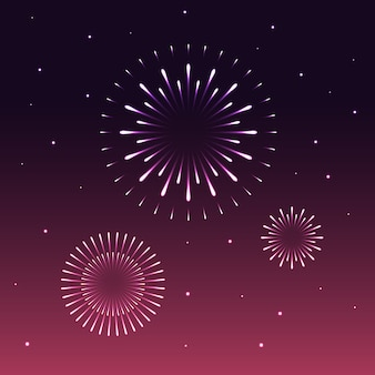 Colorful firework abstract background happy new year celebration concept