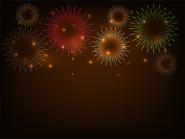 Colorful firework celebration background