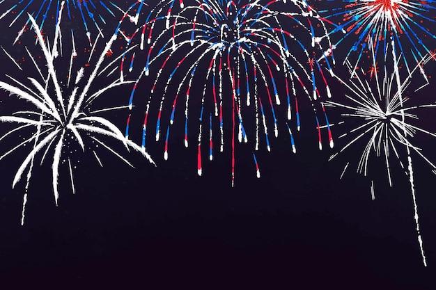 축하 테마의 화려한 불꽃놀이 배경
