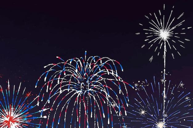 お祝いのテーマでカラフルな花火の背景