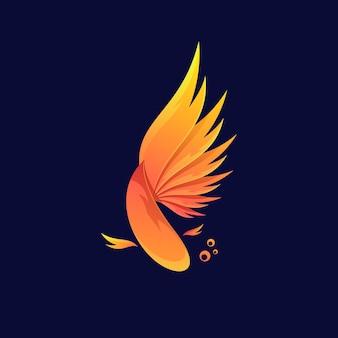 Красочные рыбы логотип иллюстрации вектор шаблон