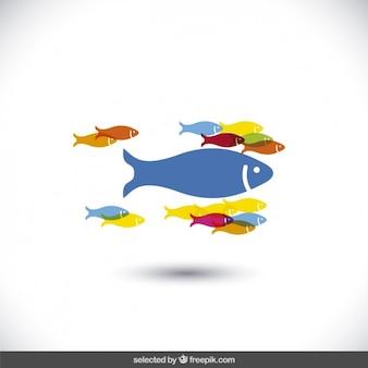 Icone pesci colorati