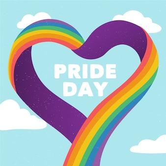 Concetto di bandiera colorata orgoglio giorno