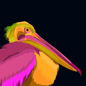 Colorful flamingo pop art