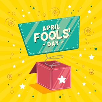 Colorful flat april fools' day illustration